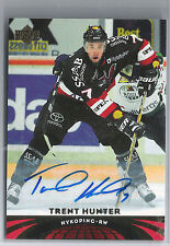 04-05 2004-05 UD ALL-WORLD EDITION TRENT HUNTER AUTOGRAPH AUTO 72 NYKOPING