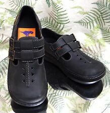 ROCKET DOG BLACK LEATHER MARY JANES LOAFERS WORK SCHOOL SHOES US WOMENS SZ 8 M