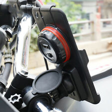 Phone Holder  Bike Bicycle Motorcycle 4.7'' Bar Stem Mount 2.4A USB For iPhone