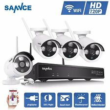 SANNCE Wireless WIFI 720P 1CH NVR Network Security Camera System 1MP Video Home