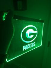 Green Bay Packers LED Neon Sign for Game Room,Office,Bar,Man Cave, Ma'am Cave