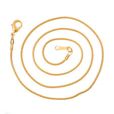 "Snake Chain Necklace Lobster Clasp Gold Plated 46cm long(18 1/8"")"