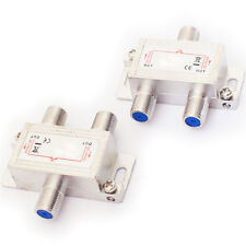 2 Way/Port Aerial F Connector Splitter-Signal Coaxial Distribution-DC Power Pass