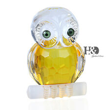 3D Crystal Paperweight Animals Facet Branch Owl Figurine Glass Collectibles Gift