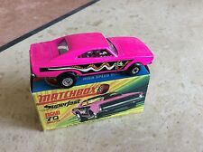 MATCHBOX SUPERFAST No. 70b DODGE DRAGSTER , CREAM BASE ,BOXED