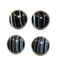 Black and White Agate 12mm with 5mm Dome Cabochons Set of 4 (9972)