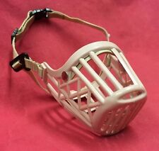 Dog Muzzle S/M Safety Cage Basket Adjustable Straps Jack Russell Westie Spaniels