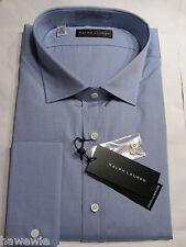 Ralph Lauren Black label Hemd 44 / 17,5 -XL, blau Doppelmanschette - 225€  9609