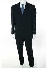VALENTINO MEN'S Black Wool Notched Collar V Neck Tuxedo Pant Suit Sz IT 52