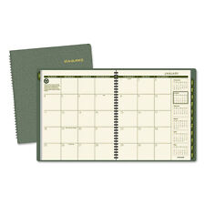At-A-Glance Recycled Monthly Planner 9 x 11 Green 2017-2018 13 Month 70260G60