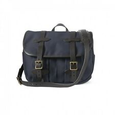 NEW FILSON FIELD BAG MEDIUM NAVY CARRY ON TOTE 70232 LAPTOP LEATHER TWILL