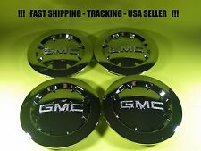 "4 Center Caps For GMC CHROME  20"" Sierra Yukon XL Denali Hub Cap OEM 9596381 USA"