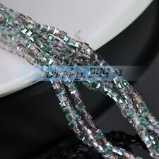 150pcs 3mm Cube Square Crystal Glass Loose Spacer Beads Findings Rose Green