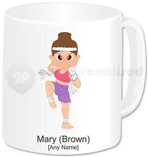 Personalised Martial Arts Mug- Muay Thai Girl with Attack Face