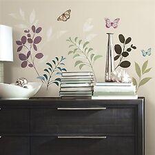 Botanik & Schmetterlinge 18 Elemente Wandtatoos wiederverwendbar RoomMates 01475
