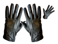 NEW LADIES BLACK REAL LEATHER GLOVES SOFT LINING THINSULATE WARM WINTER FASHION