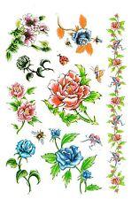 Temporay Körper Schmuck Tattoo Einmal Tatoo Tätowierung Bodyart Rose