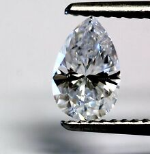 GIA Loose Certified Pear Diamond .76ct I1 D vintage antique 7.63x4.91x3.30mm