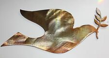 Dove and Olive branch  large Copper/Bronze Plated