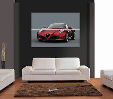 ALFA ROMEO 4C CONCEPT CAR Giant Wall Art Print Picture Poster