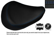 R BLUE DS STICH CUSTOM FITS HONDA SHADOW VT 125 99-07 FRONT LEATHER SEAT COVER