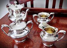 Excellent Rare Antique/Vintage Barbour Silverplate Tea Set - 4 Pcs.
