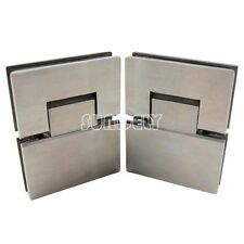 Stainless Steel 180° Frameless Wall to Glass Shower Door Hinge wall mount hinge