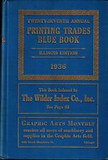1936 Illinois Blue Book Printing Trades, Business Directory Printers Publishing