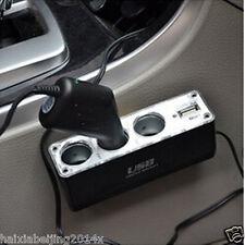 3 Holes Car Cigarette Lighter Socket Splitter  USB Port Charge Vehicle Accessory