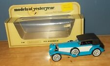 Matchbox Yesteryear Y16 Mercedes Benz SS Coupe Blue Milky White side panels
