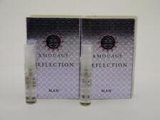 2 x Amouage REFLECTION MAN EDP Eau de Parfum 2ml Vial Spray New With Card