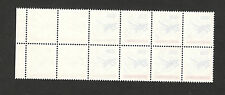 YUGOSLAVIA-SERBIA-MNH BLOCK OF 12 DEFINITIVE STAMPS-ERROR-ABKLATSCH-PLANE-1993.