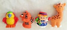 Fisher Price Little People Figurine Giraffe Bird Tiger & Girl - Lot of 4 Pieces