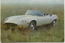 Jaguar E Type V12 Convertible Period US issued Postcard
