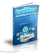TWITTER MARKETING MADE EASY - HOW TO TURN FOLLOWERS INTO CUSTOMERS PDF eBOOK CD