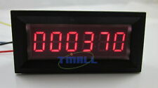 6 Digit Red LED Counter Panel Meter DC 8-12V Up Plus Totalizer 0-999999