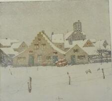 L'Hiver by Francois Simon. Color Plate. The Studio. 1910.