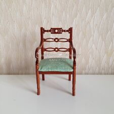 1:12 Scale Dollhouse Miniature Furniture Handcrafted Butterfly Armchair Walnut