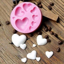 3D Heart Fondant Mold Silikon Cake Dekorieren Craft Sugar Chocolate Mould DIY