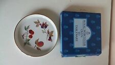Royal Worcester Porcelain Evesham Gold Flan Quiche Dish Shortbread Tray 18cm