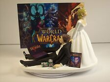 VIDEO Game JUNKIE WOW Horde Funny Wedding Cake Topper Bride & Groom LAPTOP