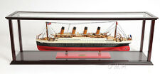 """Wooden & Plexiglas Table Display Case 38"""" Cabinet Ocean Liners,Boats,Yachts New"""