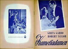 CAMILLE 1937 Greta Garbo, Robert Taylor DANISH BROCHURE