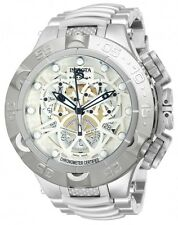 Men Invicta 50mm Subaqua Noma V COSC White Swiss Chronograph Stainless Watch New
