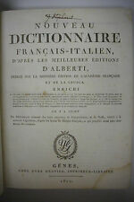 1811 Dictionnaire Francais-Italien *French - Italian Dictionary *Super Rare!!