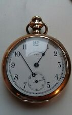circa 1900 waltham traveller pocket watch 14 ct gold filled for repair or spares