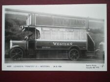 POSTCARD RP LONDON 'PIRATES' BUS II WESTERN 1924