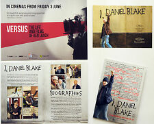 3 X I DANIEL BLAKE FILM POSTCARDS & VERSUS THE LIFE & FILMS OF KEN LOACH FLYER