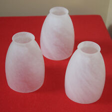 Alabaster White Ceiling Fan Glass Shade Replacement Set of 3