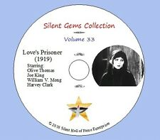 "DVD ""Love's Prisoner"" (1919) starring Olive Thomas with Joe King, Classic Drama"
